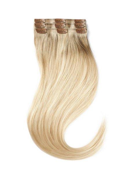 Rapunzel Of Sweden Sleek Clip-on set 3 pieces 50 cm Hair extensions Dark Cool Blonde ColorMelt