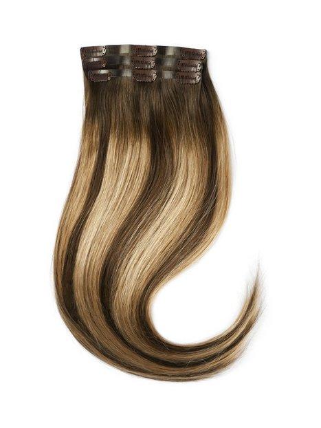 Rapunzel Of Sweden Sleek Clip-on set 3 pieces 50 cm Hair extensions Hazelnut Caramel