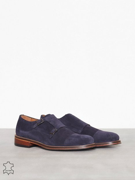 Human Scales Denny Suede Elegante sko Navy mand køb billigt