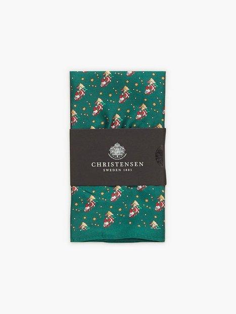 Amanda Christensen Printed Pocket Lommetørklæder Bottle Green - herre