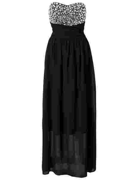 Shop Te Amo Jewel Bustier Maxi Dress - Black - Nelly.com