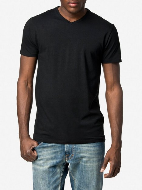 Selected Homme Slhpima Ss V Neck Tee B Noos T shirts undertrøjer Sort - herre