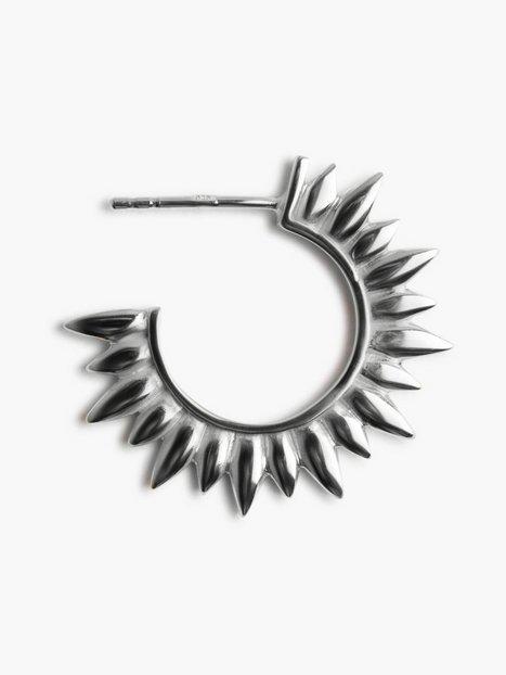 Blue Billie Sun Hoop Earring Øreringe Sølv