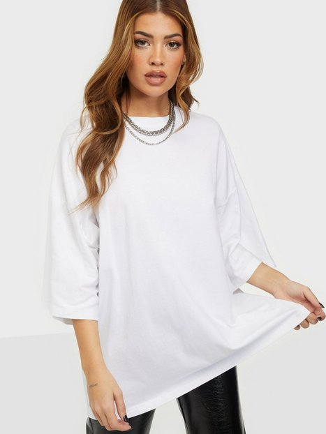 Missguided Drop Shoulder T-Shirt T-shirts White