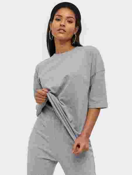 Shoppa Missguided Co Ord T shirt Jogger Set Grey