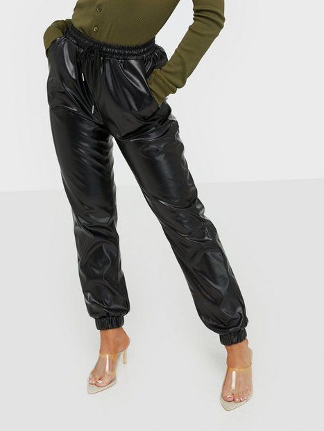 Missguided Faux Leather Jogger Trouser Bukser