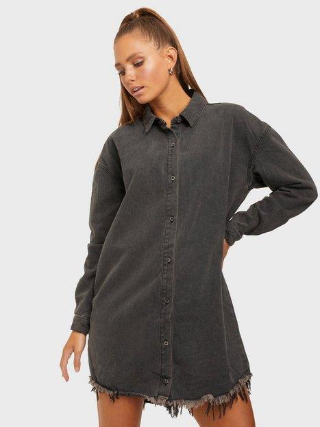 Missguided Oversized Denim Shirt Dress Skater kjoler