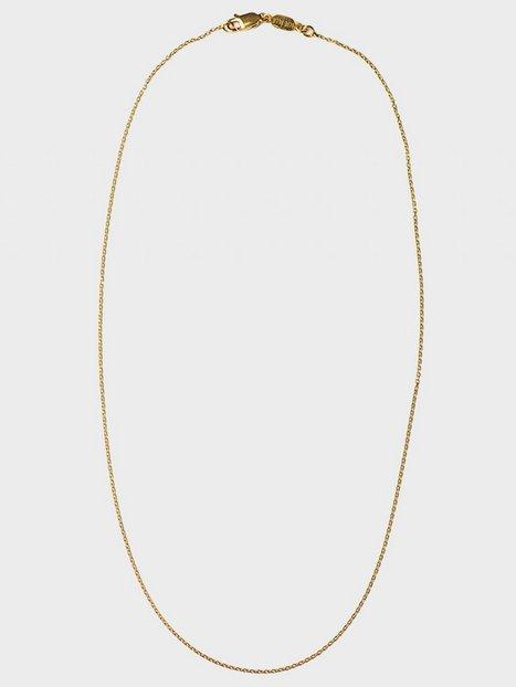 Blue Billie Thin Chain 40cm Halsband