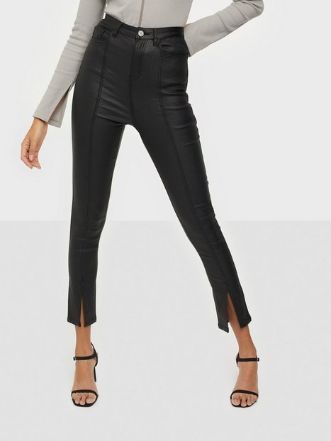 Missguided Split Front Coated Skinny Jeans Skinny fit