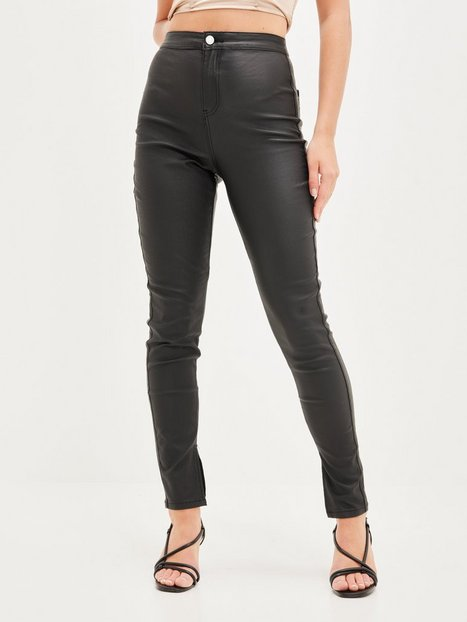 Missguided Split Hem Coated Jeans