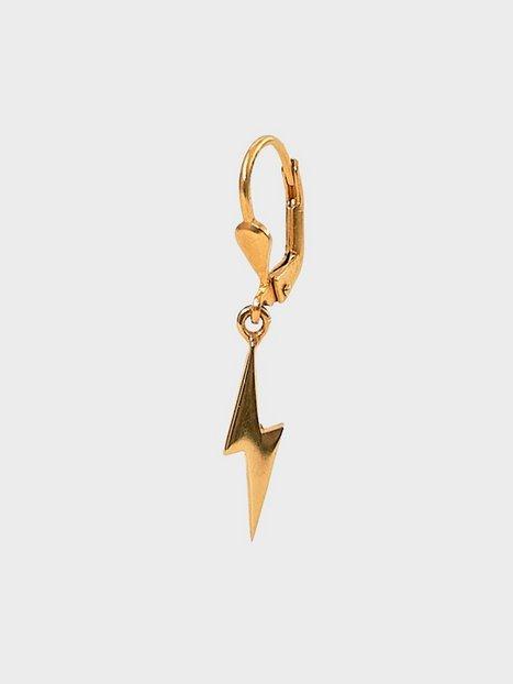 Blue Billie Lightning Earring Øreringe Guld
