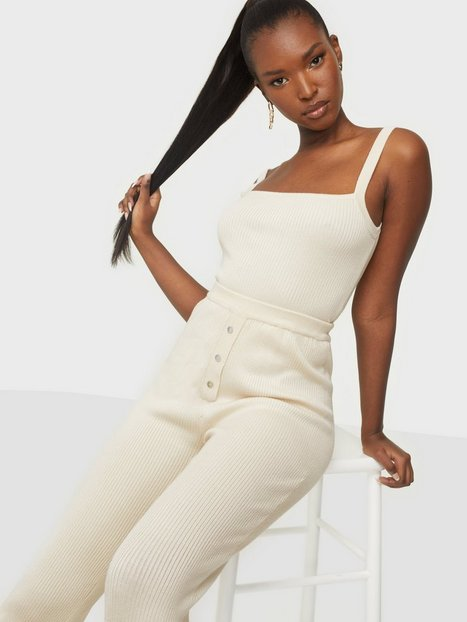 Missguided Loungewear Ribbed Crop Top & Wide Leg Loungewear