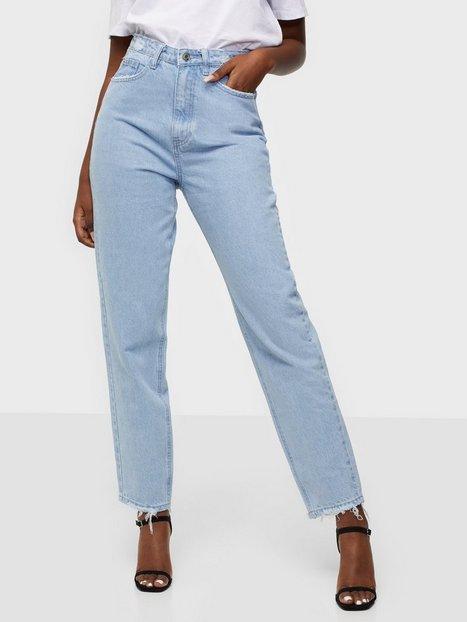 Missguided Riot Highwaisted Waistband Disress Jeans