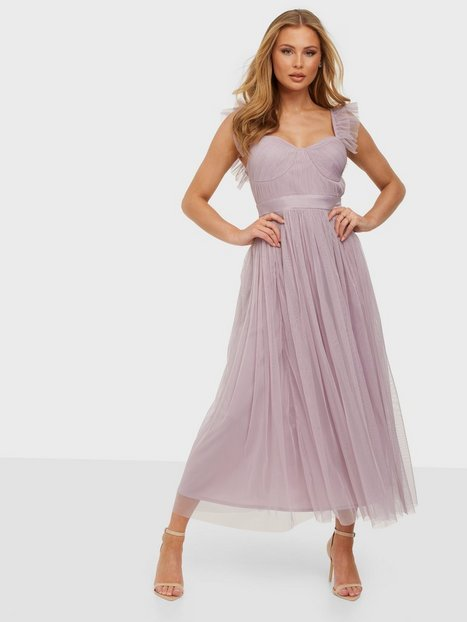 Anaya Tulle Midaxi With Cups and Straps Dress Skater Dresses