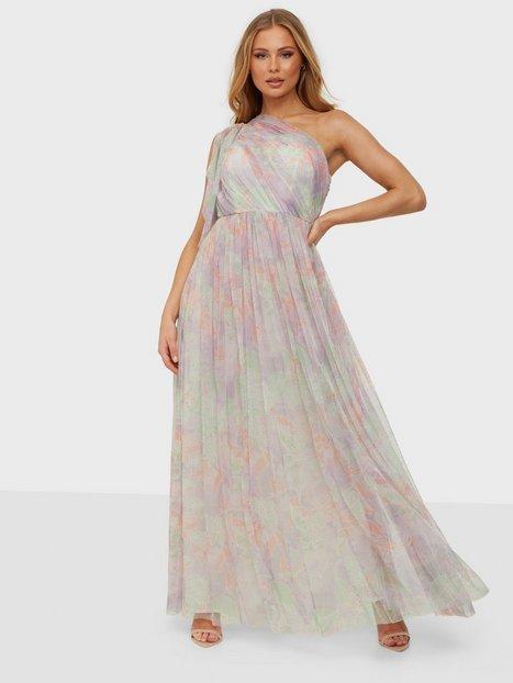Anaya One Shoulder Maxi Dress Waterfall Sleeve Maxikjoler