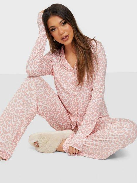 Missguided Leopard Shirt Wide Leg PJ Set Pyjamas & Mysplagg