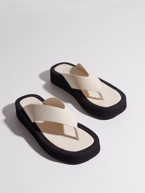 Missguided Thong Mule Sandals Klip klappere Sand
