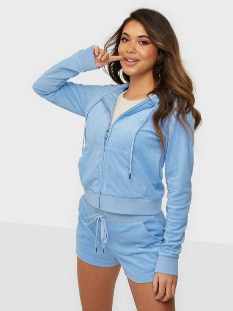 Se Juicy Couture Robertson Towelling Hoodies Blue ved Nelly
