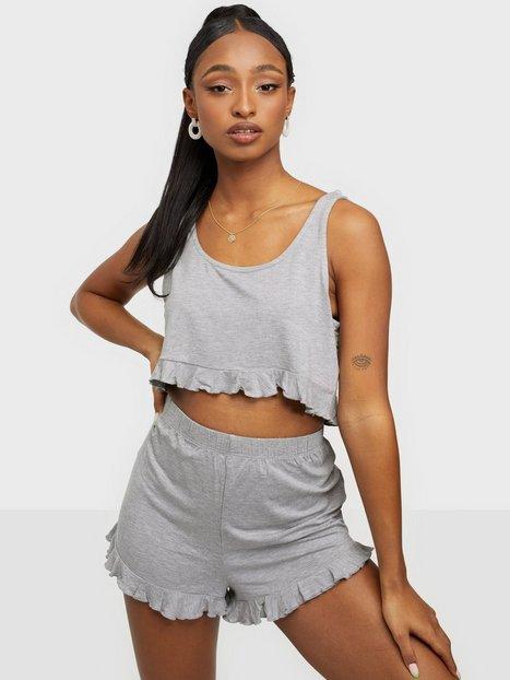 Missguided Frill Crop Vest & Short PJ Set Pyjamas & Mysplagg