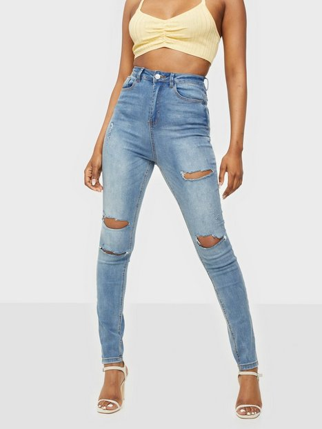 Missguided Sinner Waisted Authentic Ripped Jeans