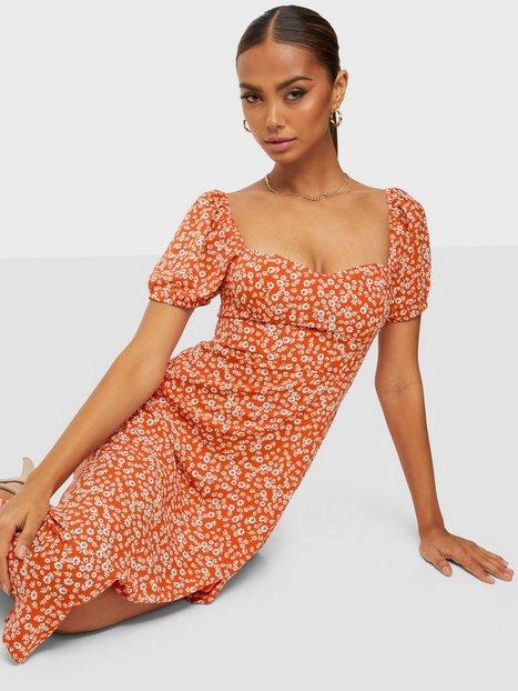 Kiss The Sky Flower Midi Dress Loose fit dresses