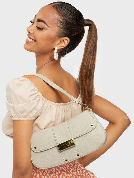 Missguided Branded PU 90'S Shoulder Bag Håndtasker White