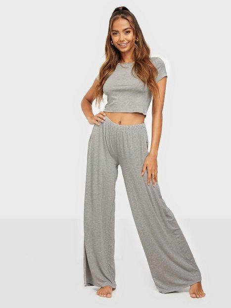 Missguided Cap Sleeve Crop Top Wide Leg Pyjamasser & hyggetøj