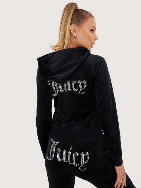 Juicy Couture Robertson Diamante Hoodie Hoodies Black