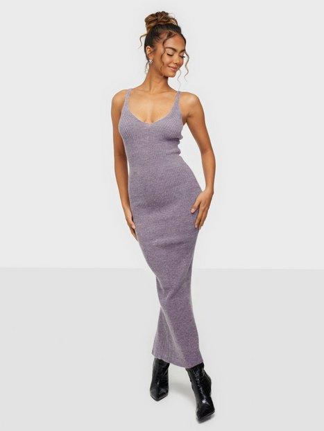 Adoore Knitted Slip Dress Strikkjoler Lilac