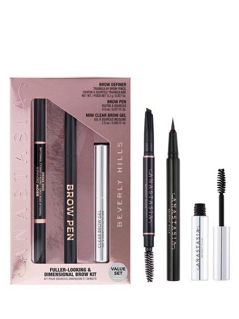Anastasia Beverly Hills Fuller Looking + Dimensional Brows Kit - Taupe Øjenbryn Dark Brown