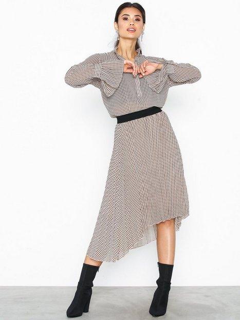 Vila Visanka Plisse Skirt Rx Midi nederdele Sort