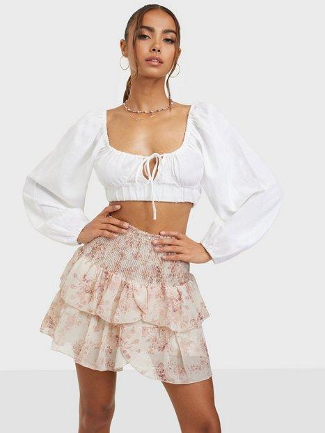 Neo Noir Carin Square Flower Skirt Mini nederdele