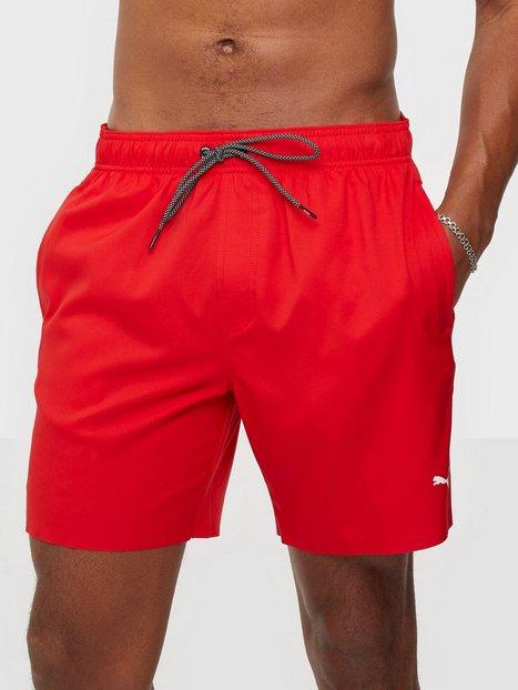 Puma Puma Swim Men Medium Length Swim Shorts 1P Badetøj Red