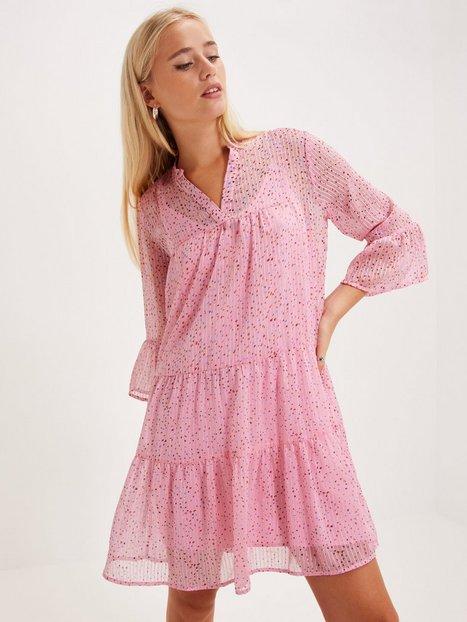 Neo Noir Gunvor Sparkle Dress Loose fit dresses Pink