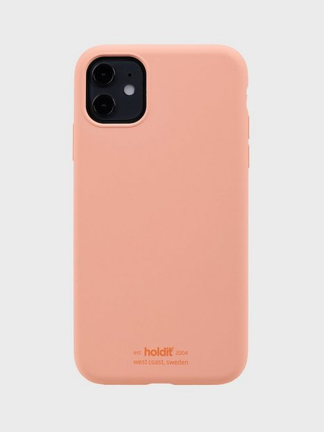 Holdit Silicone Case iPhone 11 Mobilcovere Pink Peach