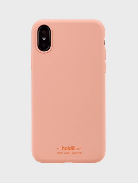 Holdit Silicone Case iPhone X/Xs Mobilcovere Pink Peach