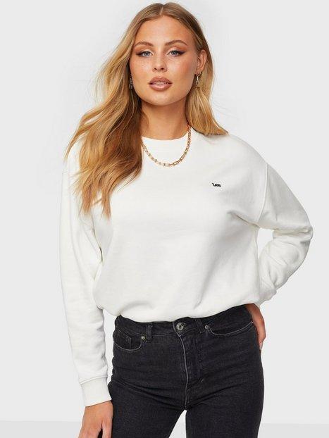 Lee Jeans Crew Sws White Canvas Sweatshirts Hvid