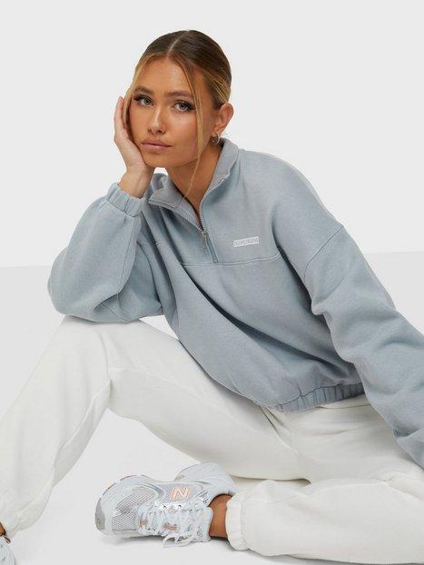 Calvin Klein Jeans Micro Flock Half Zip Bluser & skjorter Grå