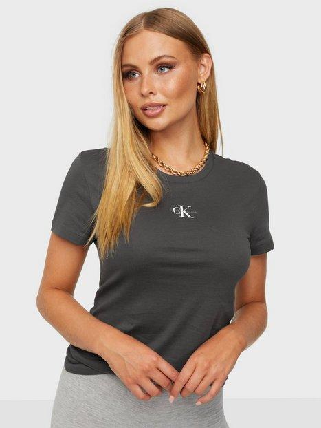 Calvin Klein Jeans Micro Monogram Ss Tee T-shirts Grå