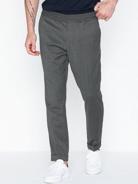 Filippa K M. Terry Cropped Trouser Bukser Grey Melange - herre