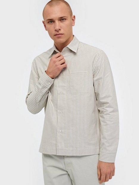Filippa K M. Zach Striped Overshirt Skjorter Green - herre