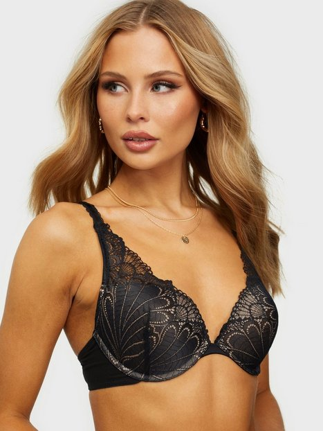 Wonderbra Glamour Triangle Bra Push-ups & balconette-BH'er Sort