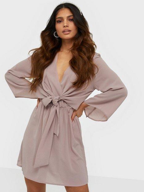 Ax Paris V Neck Long Sleeve Dress Kjoler