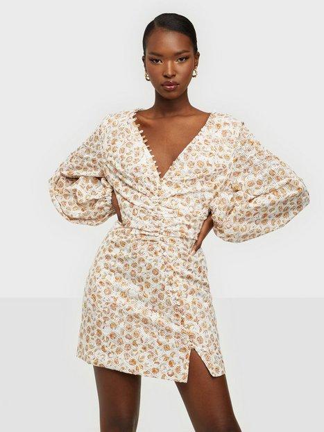 Bardot Printed Broderie Dress Skater kjoler