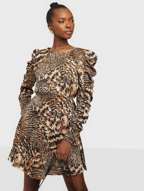 Ax Paris Puff Sleeve Print Mini Dress Langærmede kjoler