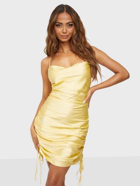 Bardot Mini Rouched Dress Kjoler Canary Yellow