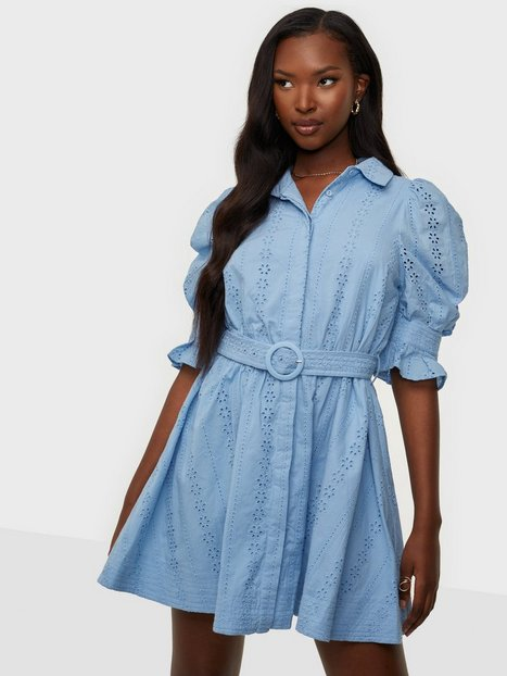 Bardot Mini Broderie Dress Skater kjoler