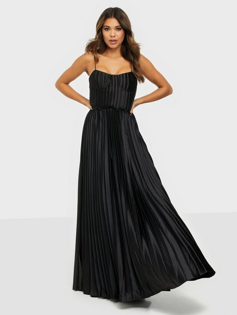 True Decadence Satin Maxi Dress Maxikjoler