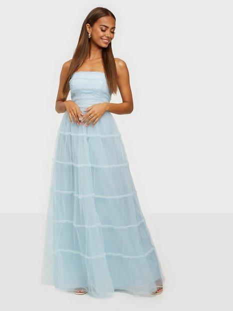 True Decadence Tulle Bandeau Maxi Dress Maxikjoler