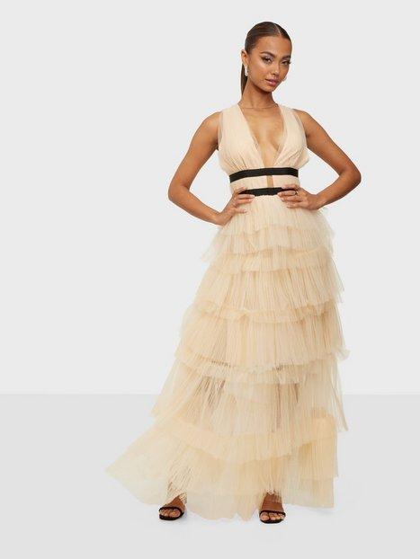 True Decadence Short Sleeve Frill Dress Maxikjoler